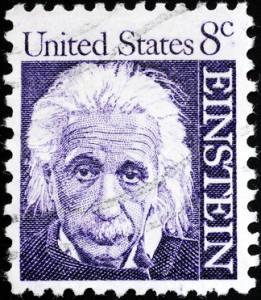 Albert Einstein portrait on US postage stamp
