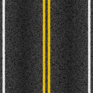 Asphalt road with marking lines