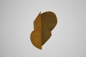"WVZ 1-10-10, Acryl auf Sperrholz, ""geteiltes Blatt"", 2010, 47 x 33 x 2"