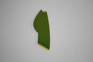 "WVZ 4-3-10, Acryl auf Sperrholz, ""will blühen"", 2010, 58 x 28,5 x 2"