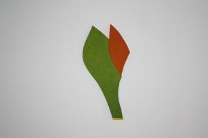"""WVZ 2-3-10, Acryl auf Sperrholz, """"treibt"""", 2010, 53 x 20 x 2"""