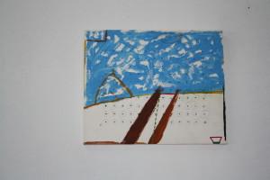 """WVZ L2-1-97, Acryl auf Holz, """"Er wählte sich die Landschaft"""", 1997, 35 x 28,5"""