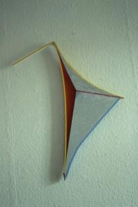 "WVZ 3-12-84, Acryl auf Spanplatte, Karton, ""Vogel"", 1984, 48 x 58"