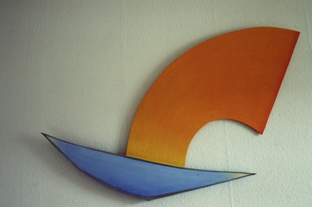 "WVZ 1-2-85, Acryl auf Spanplatte, ""Januarflug"", 1985, -"