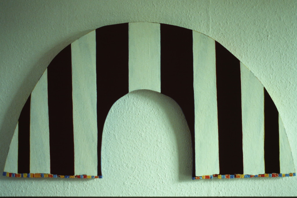 """WVZ 5-3-85, Acryl auf Spanplatte, """"Elebra II"""", 1985, 111 x 61"""