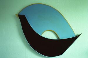 """WVZ 1-8-85, Acryl auf Spanplatte, """"Blackbird"""", 1985, 114 x 95"""