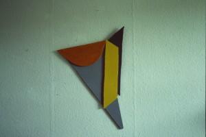 WVZ 3-8-85, Acryl auf Spanplatte, o.T., 1985, 48 x 69