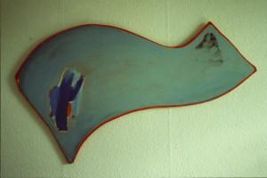 """WVZ 6-8-85, Acryl auf Spanplatte, """"Die Welle"""", 1985, 125 x 73"""