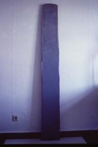 "WVZ 2-9-85, Acryl auf Spanplatte, ""Schlange"", 1985, 25 x 190"