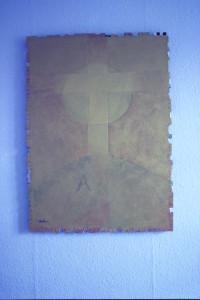 "WVZ 1-10-85, (Tryptichon), Acryl auf Spanplatte, ""Epitaph"", 1985, -"