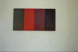 "WVZ 7-2-86, Acryl auf Spanplatte, ""Abfolge (in den 30-ern), 1986, 62,5 x 33"