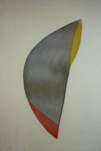 """WVZ 6-3-86, Acryl auf Spanplatte, """"türkische Frucht"""", 1986, 40 x 107"""