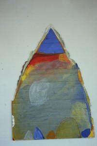 "WVZ 12-3-86, Acryl auf Wellpappe, ""Eisberg"", 1986, 70 x 100"