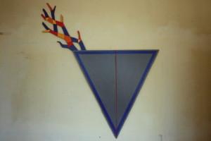 """WVZ 13-3-86, Acryl auf Spanplatte, """"Feldarbeit"""", 1986, 99 x 160"""
