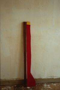 "WVZ 19-3-86, Acryl auf Spanplatte, Holz, Draht, ""Schiff"", 1986, 12 x 100"