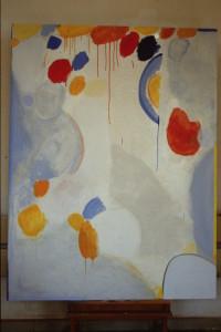 """WVZ 11-5-86, Acryl auf Hartfaser, """"Es sind die Monde im November"""", 1986, 130 x 170"""