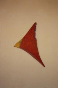 """WVZ 2-4-86, Acryl auf Spanplatte, """"Adler"""", 1986, 30 x 55"""