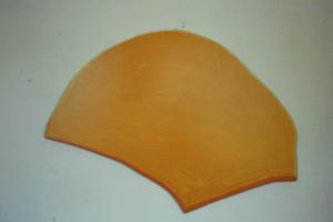 """WVZ 8-5-86, Acryl auf Spanplatte, """"Vogel"""", 1986, 87 x 52"""