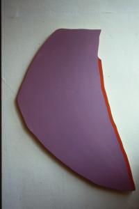 "WVZ 4-6-86, Acryl auf Spanplatte, ""fremder Mond"", 1986, 60 x 120"