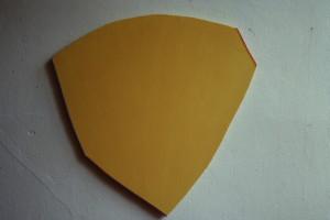 """WVZ 15-6-86, Acryl auf Spanplatte, """"Maske"""", 1986, 57 x 55"""
