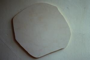 """WVZ 18-6-86, Acryl auf Spanplatte, """"Mond"""", 1986, 54 x 54"""