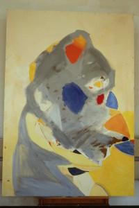 Malerei, Acryl auf Hartfaserplatte, - , (Ende 80-er/Anfang 90-er Jahre), -