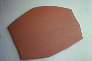 """WVZ 3-7-86, Acryl auf Spanplatte, """"Kerbel"""", 1986, 72 x 55"""