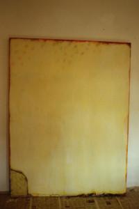 """WVZ 3-1-87, Acryl auf Hartfaserplatte, """"wir wuchsen Schnee"""", 1987, 130 x 170"""