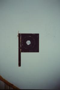Objekt, Acryl auf Holz, Platikdeckel, - , Mitte 90-er Jahre, -