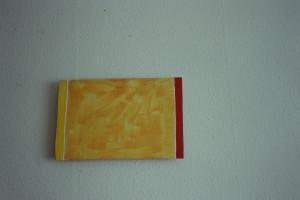 "WVZ 1-3-91, Acryl auf Wellpappe, ""Sehstück"", 1991, 27 x 41"