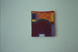 "WVZ 1-12-91, Acryl auf Wellpappe, ""Wo wohnst Du?"", 1992, 26,5 x 31"