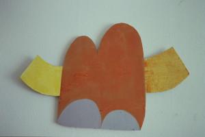 """WVZ 5-2-93, Acryl auf Wellpappe, """"Elefant"""", 1993, 90 x 58"""