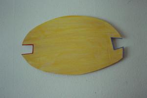 """WVZ7-2-93, Acryl auf Wellpappe, """"Schein"""", 1993, 62 x37"""