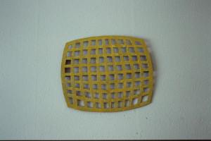 """WVZ 12-2-93, Acryl auf Wellpappe, """"Weltsicht"""", 1993, 47,5 x 41"""