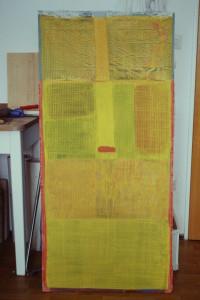 WVZ 11-2-93, Acryl auf Wellpappe, - , 1993, 62,5 x 133