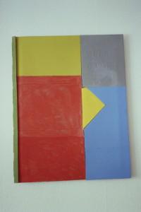 """WVZ 22-2-93, Acryl auf Wellpappe, """"Garten Eden"""", 1993, 58 x 74"""