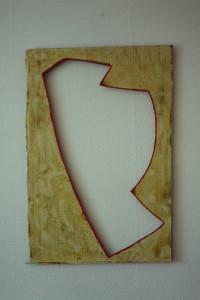 """WVZ 2-3-93, Acryl auf Wellpappe, """"Störfall II"""", 1993, 61 x 92"""