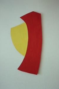 WVZ 3-3-93, Acryl auf Wellpappe, 1993, 43 x 86