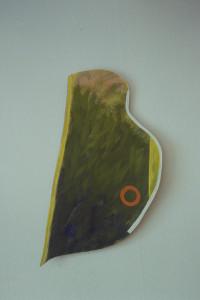 """WVZ 11-3-93, Acryl auf Wellpappe, """"barockes Stück"""", 1993, 42 x 77"""