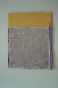 "WVZ 12-3-93, Acryl auf Wellpappe, ""Schwanengesang"", 1993, 60 x 77"