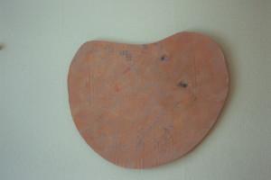 """WVZ 14-3-93, Acryl auf Wellpappe, """"warm-kalter Mond"""", 1993, 71 x 60"""