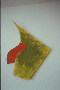 """WVZ 18-3-93, Acryl auf Wellpappe, """"seltsamer Fisch"""", 1993, 57 x 81"""