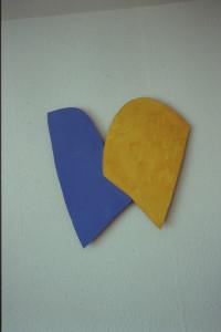 """WVZ 20-3-93, Acryl auf Wellpappe, """"a heart of gold"""", 1993, 51 x 51"""