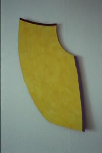 """WVZ 40-3-93, Acryl auf Wellpappe, """"Wasserfall"""", 1993, 44 x 95"""