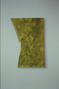"""WVZ 41-3-93, Acryl auf Wellpappe, """"Manhattan und Berlin"""", 1993, 46 x 67"""