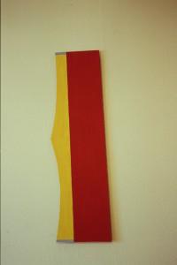 """WVZ 38-3-93, Acryl auf Wellpappe, - (""""flight""""), 1993, 29 x 102"""