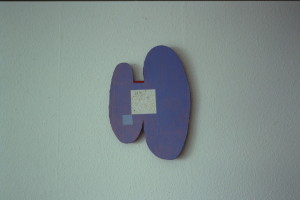 """WVZ 37-3-93, Acryl auf Wellpappe, """"Marina"""", 1993, 33 x 47"""