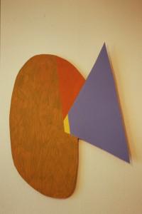 """WVZ 7-4-93, Acryl auf Wellpappe, """"fliegen"""", 1993, 68 x 88"""