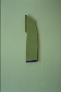 """WVZ 23-4-93, Acryl auf Wellpappe, """"Vater und Sohn"""", 1993, 16 x 65"""