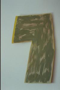 """WVZ 22-4-93, Acryl auf Wellpappe, """"großer Winkel"""", 1993, 58 x 94"""